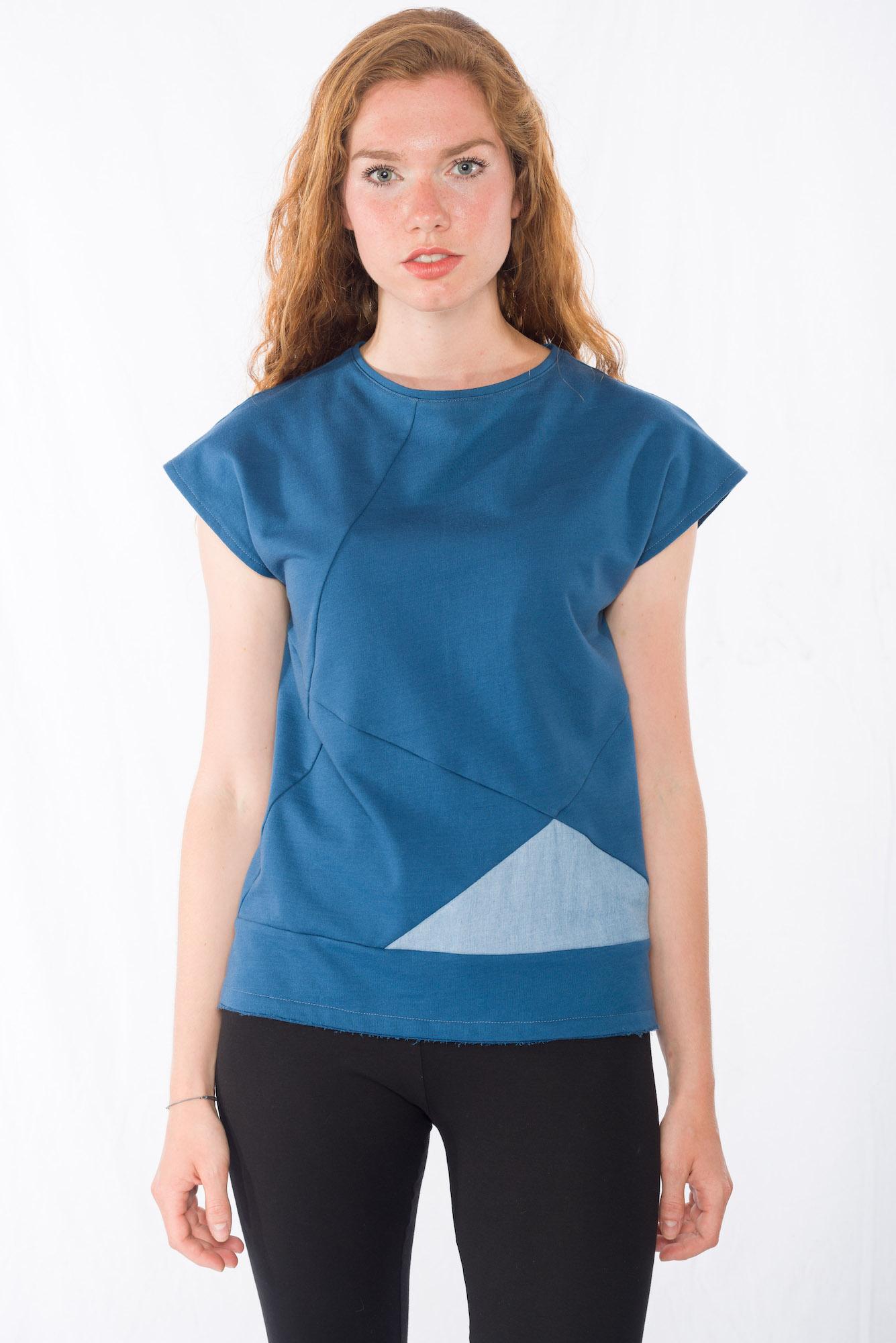 Sweat-Tshirt Blueduo