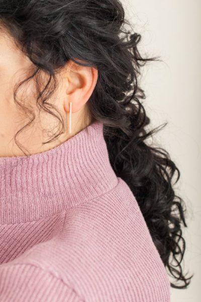 lange Silber-Ohrringe