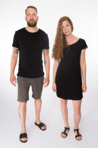 Kleid Scottish _ Shirt Black