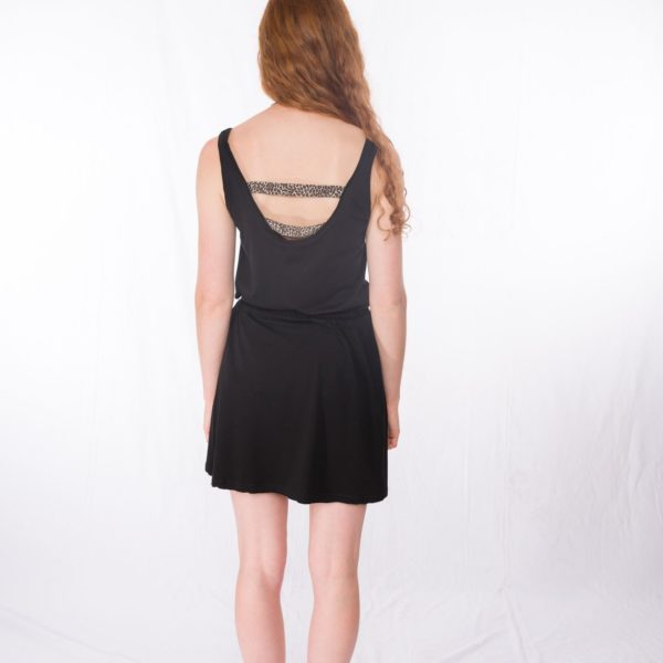 Top Meow _ Jersey-Rock Shorty Black