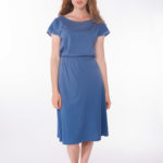 Shirt Blueleaves _ Jersey-Rock Midi Blue
