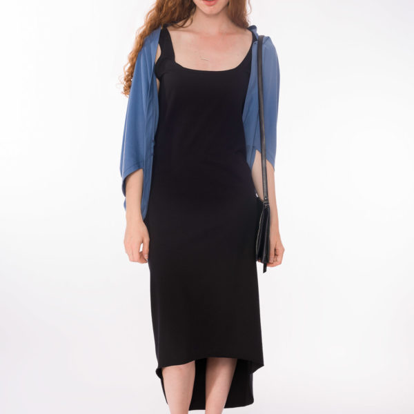 Cardigan Blue _Shirtkleid Macao