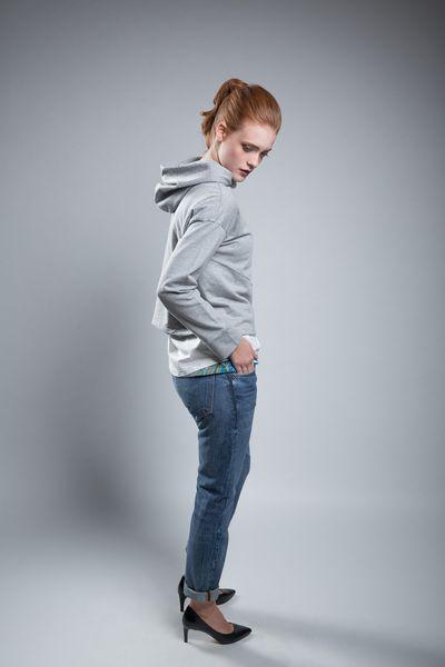Sweatshirt Shorty Grey