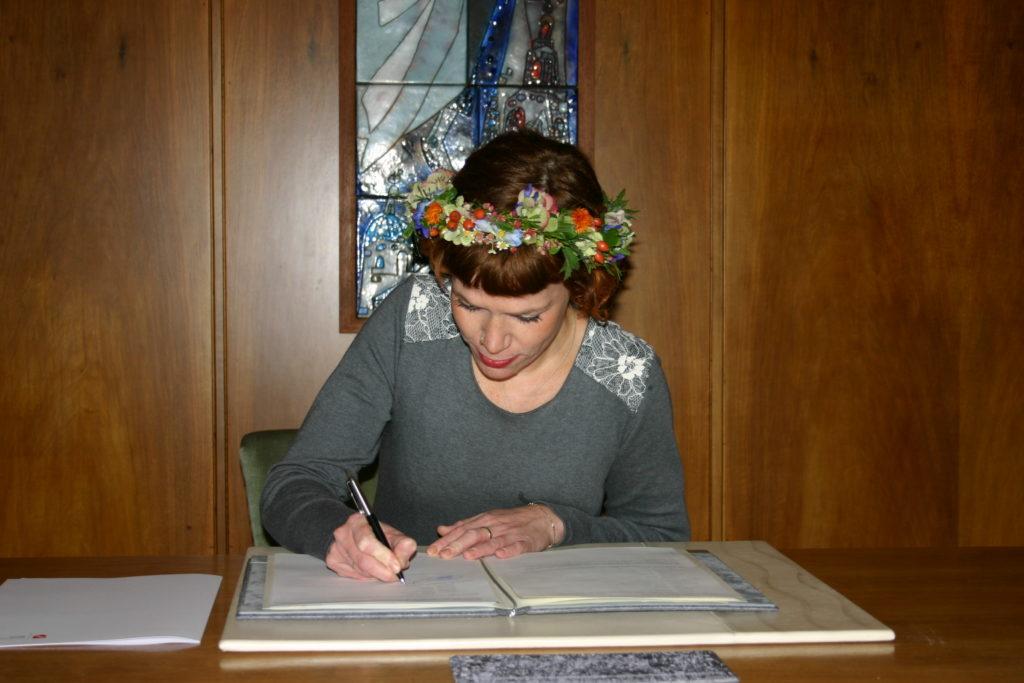 Unterschrift - standesamtliche Trauung
