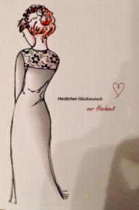 Kleidskizze Nina - standesamtliche Trauung
