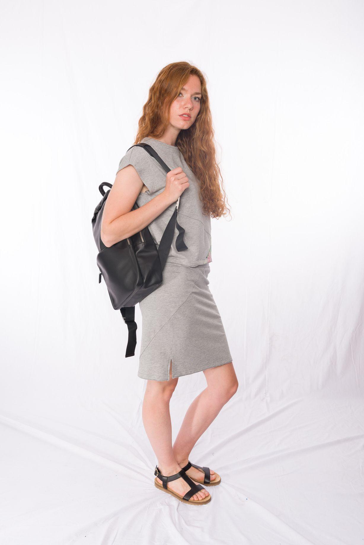 Sweat-Tshirt Shorty Tropic _ Sweat-Rock Grey _ Backpack
