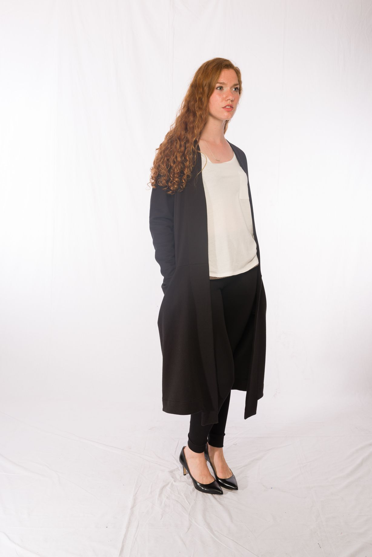 Top Quader _ Longcoat Juno _ Leggins Black