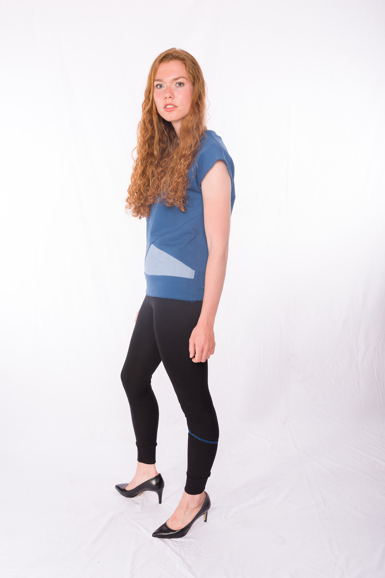 Sweat-Tshirt Blueduo _ Leggins Bluedots