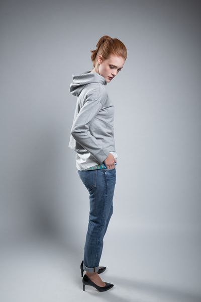 Sweatshirt Shorty Grey