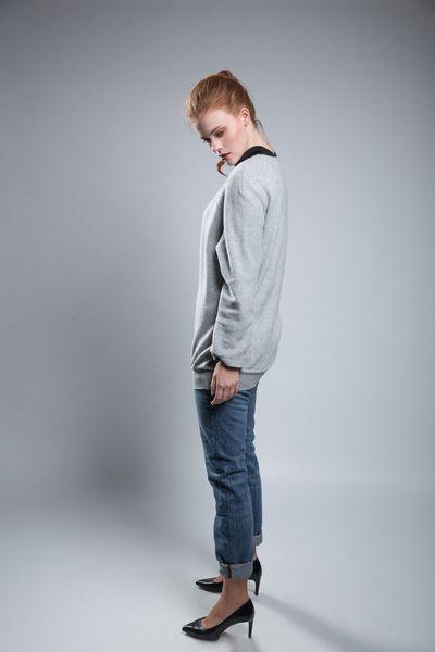 Oversized-Pullover Plain