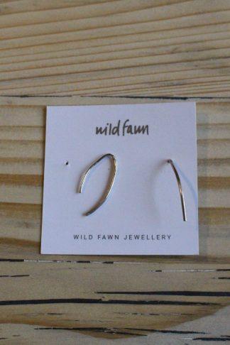 Gebogene Ohrringe Silber wild Fawn jas. slow fashion